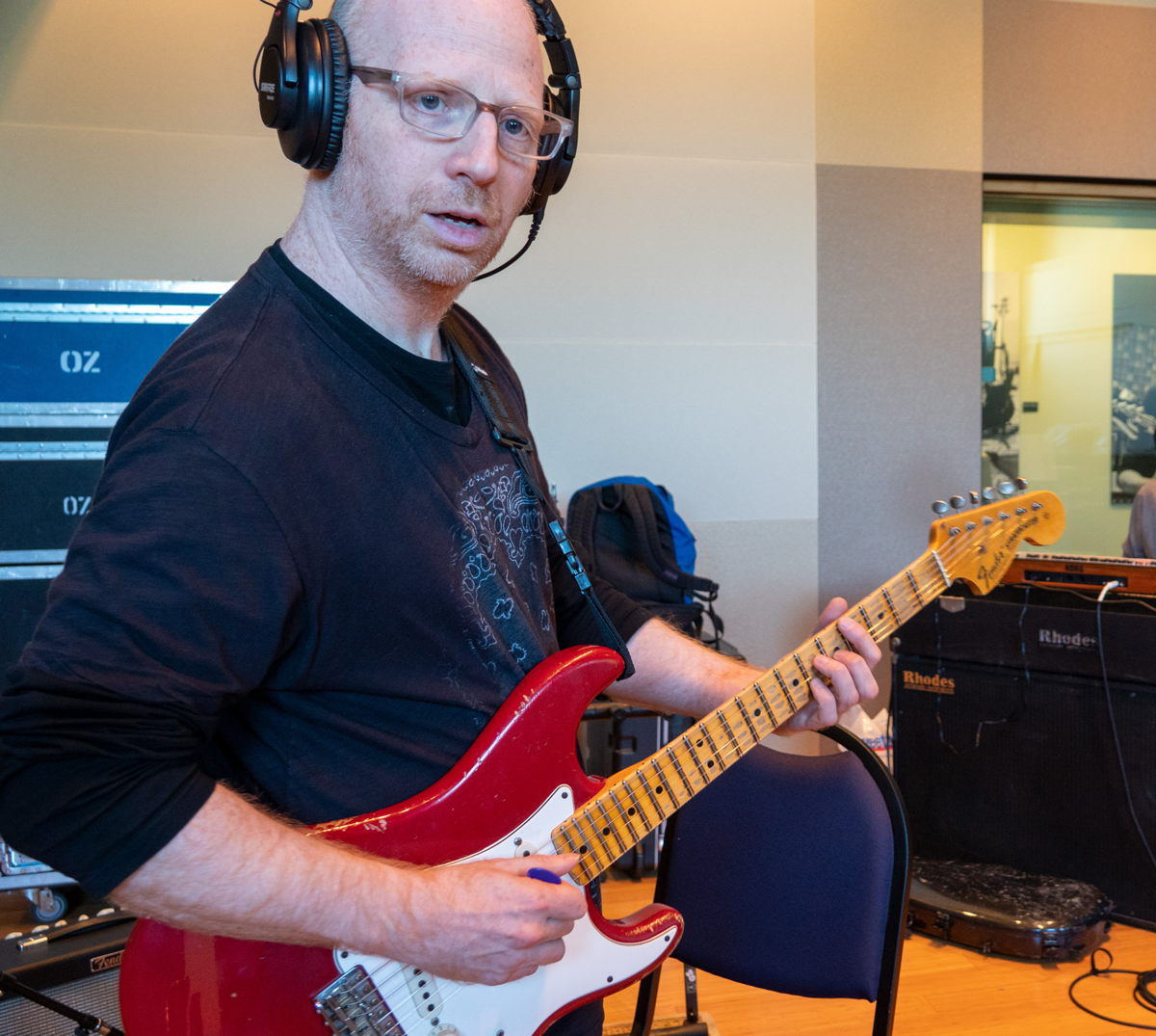 Oz Noy tracking in Studio A