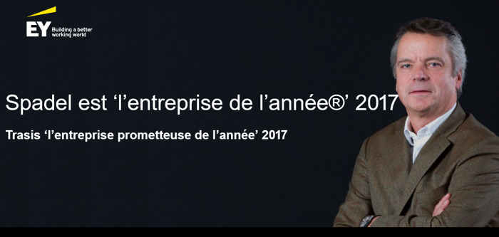 """Spadel élu """"Entreprise de l'année 2017"""""""