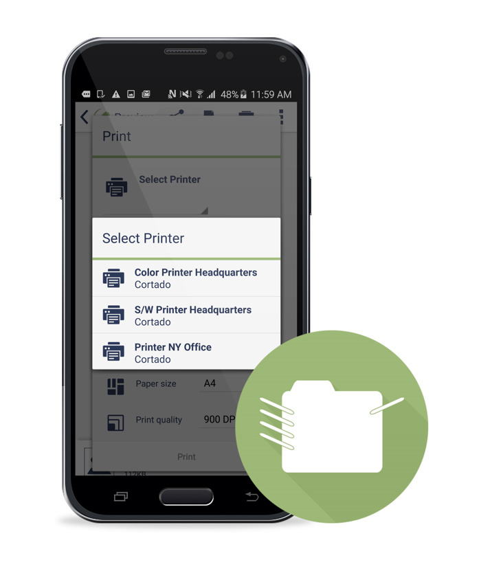 Cortado Enables Android Print for Enterprises