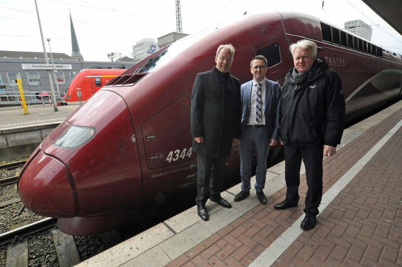 Stefan Schreiber (CEO IHK) - Sandro Löw (Thalys) - Ullrich Sierau (Maire de Dortmund)