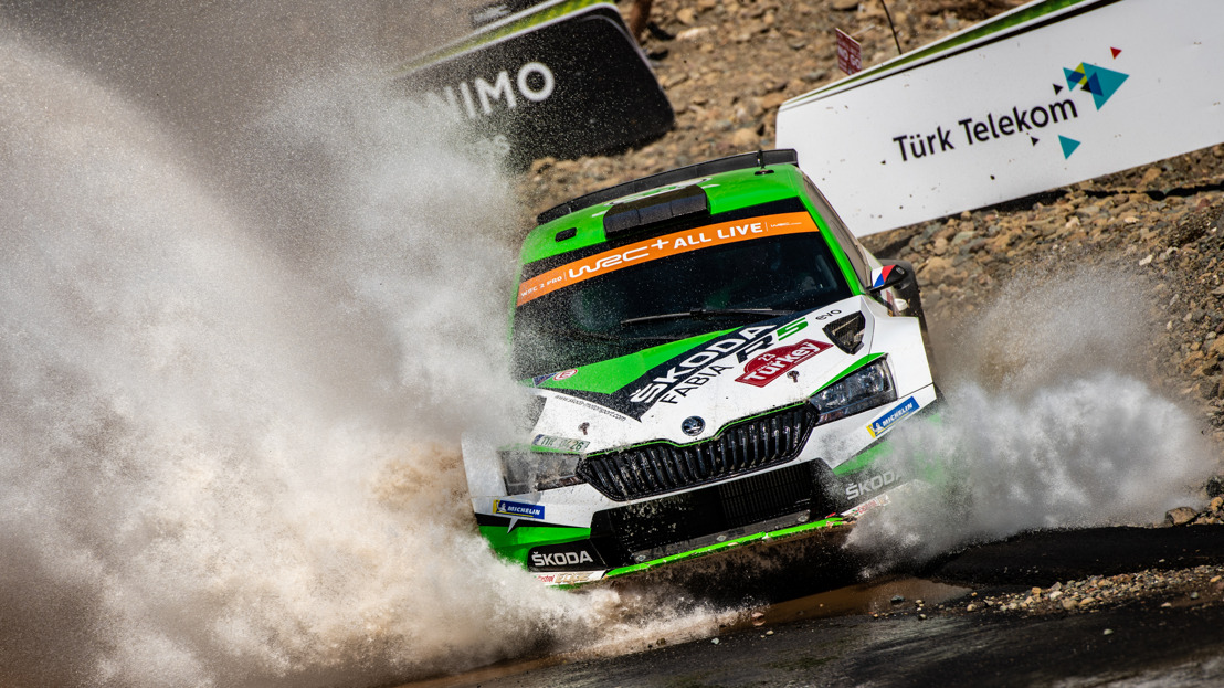 Rally Turkey: Kopecký second in WRC 2 Pro - ŠKODA increases category championship lead
