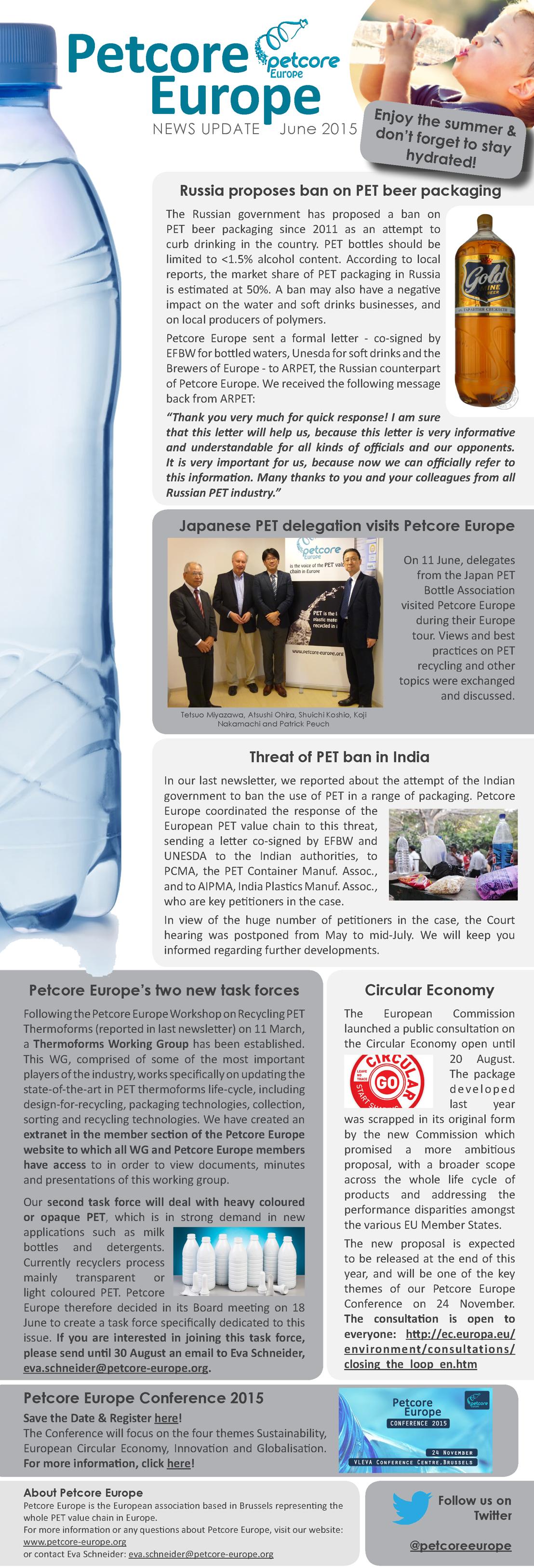 Petcore Europe News Update - June 2015