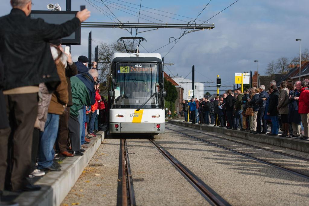 De tram rijdt opnieuw tot in Zwijnaarde.<br/>Foto: David Plas