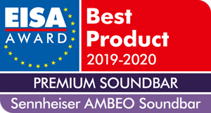 Sennheiser's AMBEO Soundbar received the EISA Award in the Premium Soundbar category.