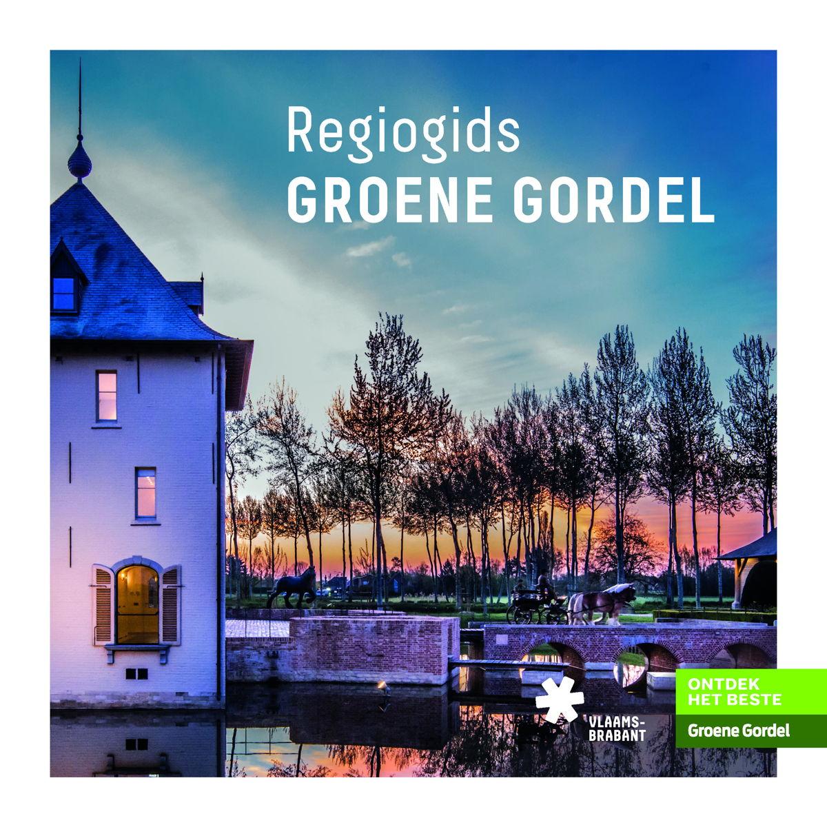 De cover van de Regiogids Groene Gordel boordevol informatie over de attracties en verborgen pllekjes voor toeristen én inwoners