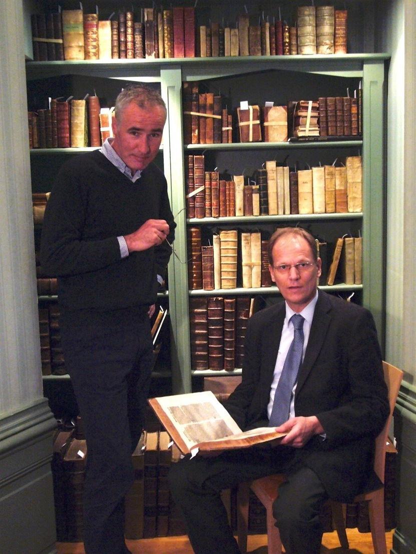 De heren Drs A.D. Steenkamp (links) en Arie Molendijk