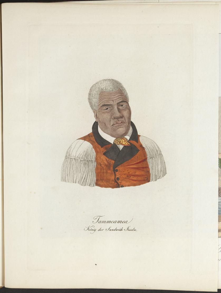 Portret van de koning van de Sandwicheilanden, 1821