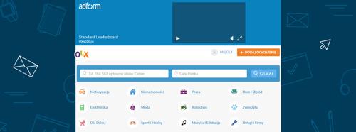Screening na stronie głównej OLX.pl już w AdForm