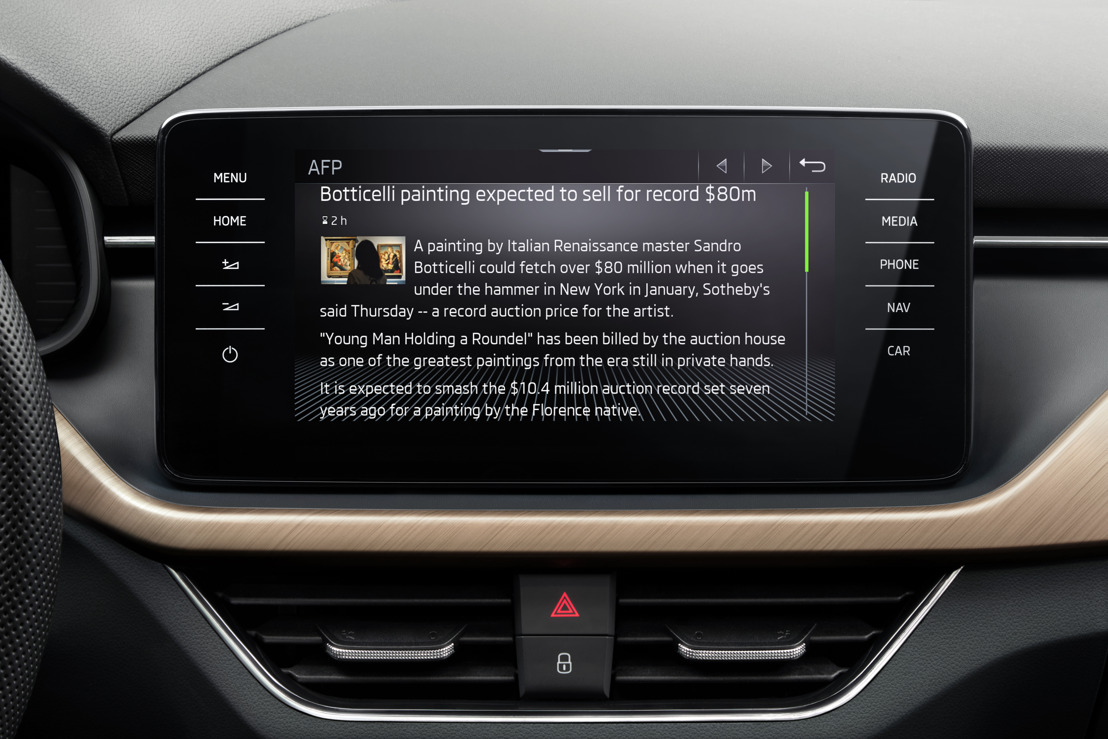 For weather and news: ŠKODA launches Infotainment Apps in SCALA, KAMIQ, KAROQ, KODIAQ and SUPERB