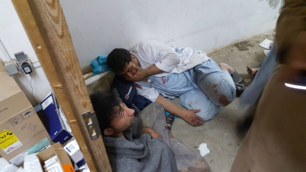 System identifier<br/>: MSF154393<br/>Title<br/>: Kunduz Hospital After the Attack<br/>Photo: ©MSF<br/>: Andrew Quilty<br/>Countries:<br/>Afghanistan<br/>Description<br/>: Burnt-out corridors, collapsed roofs, twisted metal and ash, is all that remains of many<br/>building at the MSF Trauma Centre in Kunduz, northern Afghanistan, following the 03 October US<br/>airstrike on the facility which killed more than 20 MSF staff members and patients.<br/>System identifier<br/>: MSF149192<br/>Title<br/>: Trauma Centre Kunduz<br/>Photographer / cameraman<br/>: Andrew Quilty<br/>Countries:<br/>Afghanistan<br/>Description<br/>: Qudus brought his four year old dauger khal Bibi in after she fell through the roof of their<br/>home and injured her leg. At Médecins Sans Frontières (MSF) Kunduz Trauma Centre where free<br/>treatment is provided to patients regardless of their political affiliation (ie. the side on which the fight<br/>in the war between the armed opposition group and Government forces) <br/>MSF's trauma centre is the<br/>only facility...<br/>System identifier<br/>: MSF153449<br/>Title<br/>: MSF Staff Killed and Hospital Partially Destroyed in Kunduz, Afghanistan.<br/>Photographer / cameraman<br/>: <br/>Countries:<br/>Afghanistan<br/>Description<br/>: MSF staff in shock in one of the remaining parts of MSF&#039;s hospital in Kunduz, in the<br/>aftermath of sustained bombing 03 October 2015.