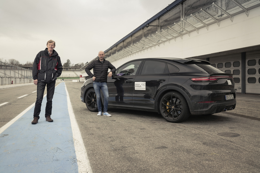 Walter Röhrl tests new high-performance model in the Cayenne product line