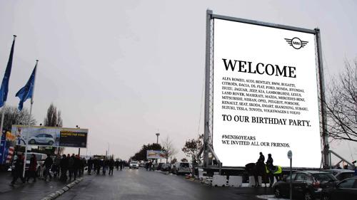 TBWA organise une grande fête au Heysel pour le 60e anniversaire de MINI