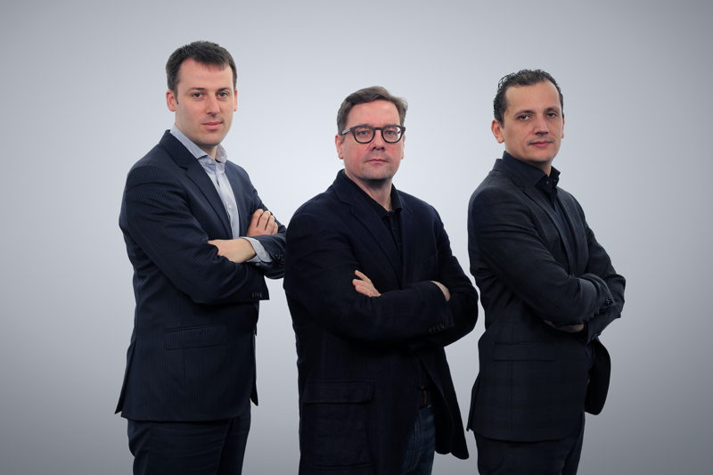 Emakina Group Management: Frédéric Desonnay, Brice Le Blévennec, Karim Chouikri