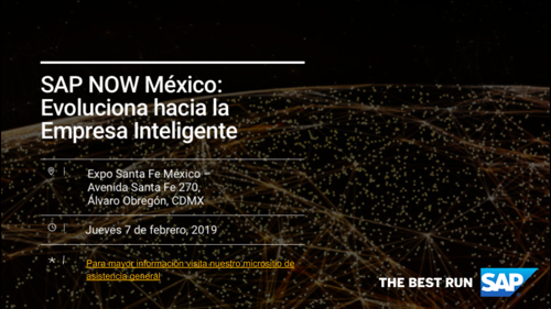 SAVE THE DATE - SAP NOW México