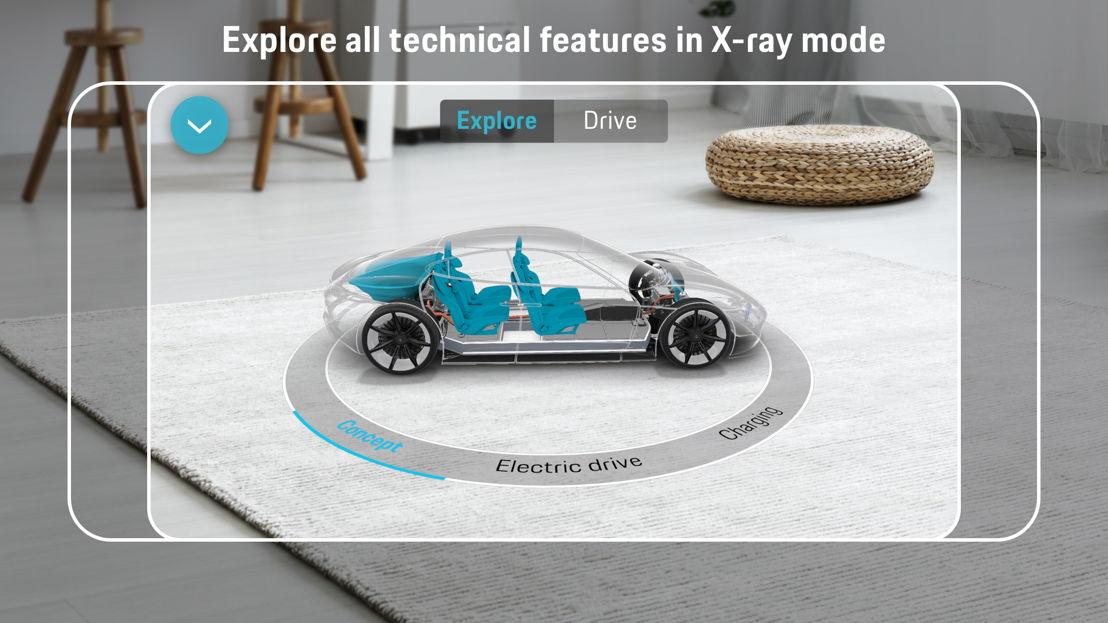 La app 'Mission E Realidad Aumentada' de Porsche