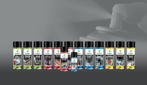 Fotobijschrift: Vier kleuren verpakking voor vier categorieën: Cleaning, Maintenance, Care en Coating.