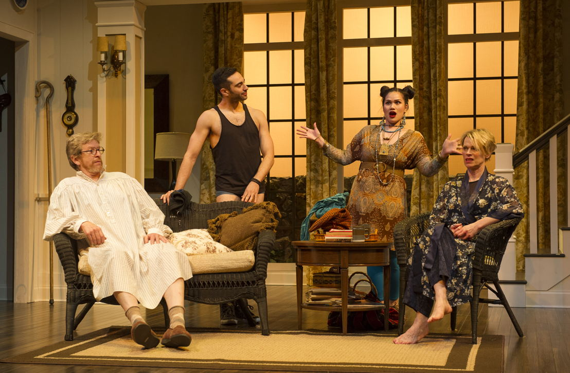 R.H. Thomson, Lee Majdoub, Carmela Sison and Brenda Robins in Vanya and Sonia and Masha and Spike by Christopher Durang / Photos by David Cooper