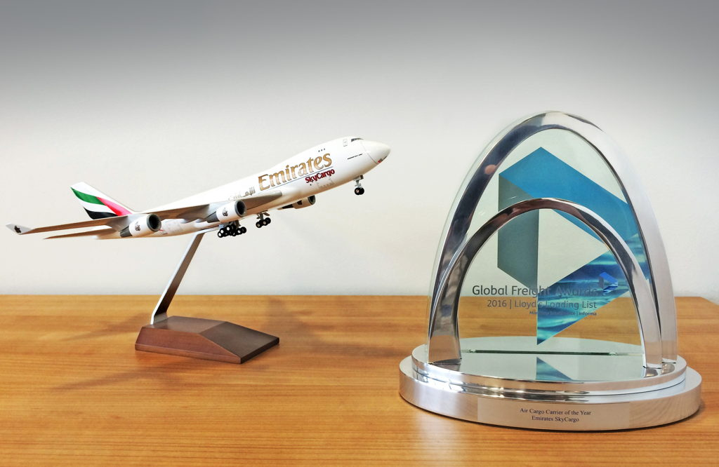 Emirates SkyCargo wins Air Cargo Carrier of the Year award at Global Freight Awards 2016