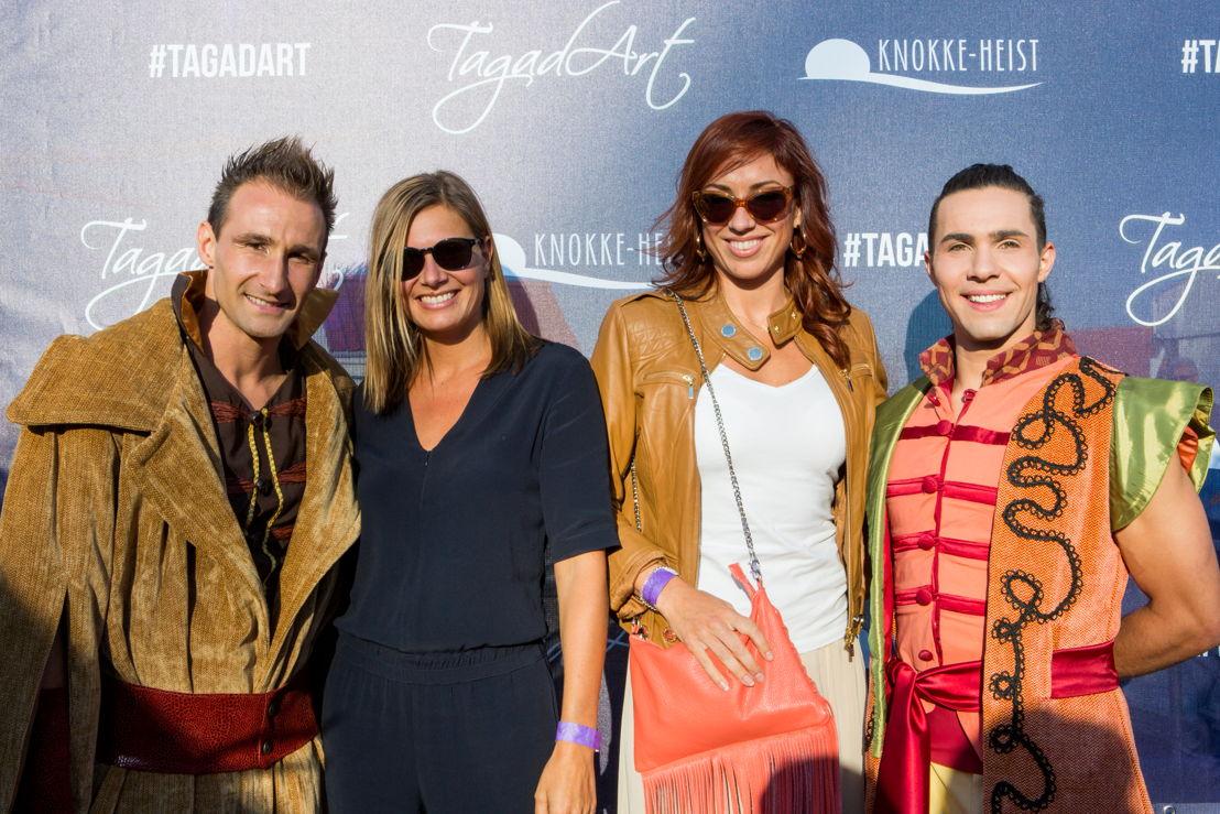 Nathalie Meskens et Natalia assistent à la première de Tagad'Art