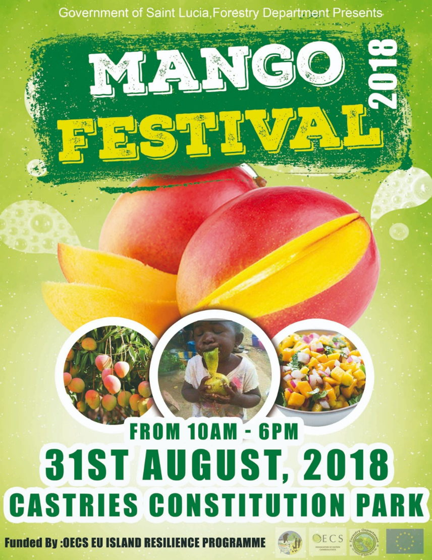 Poster of the Saint Lucia Mango Festival