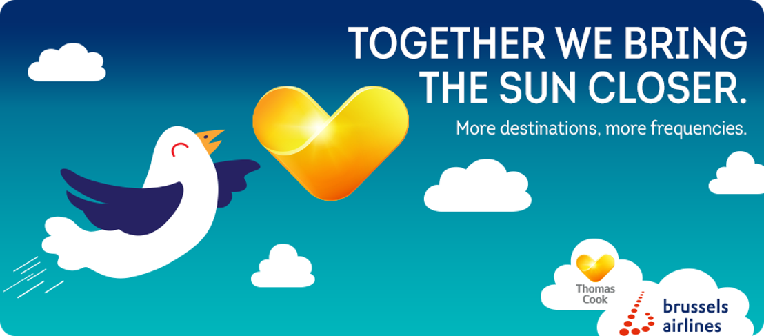 Partnership Neckermann / Thomas Cook and Brussels Airlines gives Belgian holidaymakers more choice, more flexibility and more certainty as from 28 October