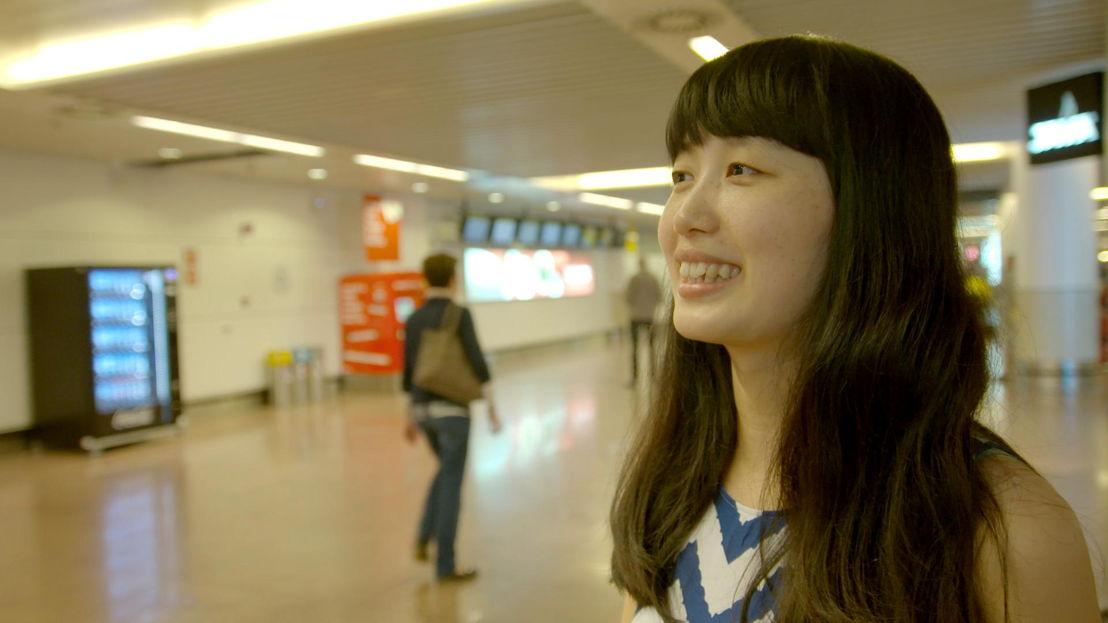 Chinese studente en blogster Zhao Dandan op stap in Antwerpen