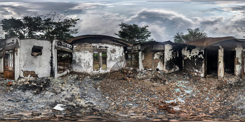 Many other local premises and houses have also been targeted and burned during the looting. Photographer: Marta Soszynska