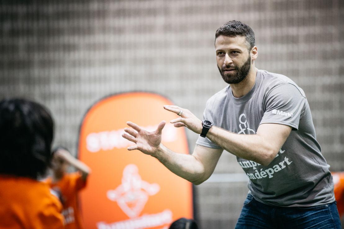 Mike Reilly at the JumpStart Games. Photo credit: CFL.ca/Reid Valmestad