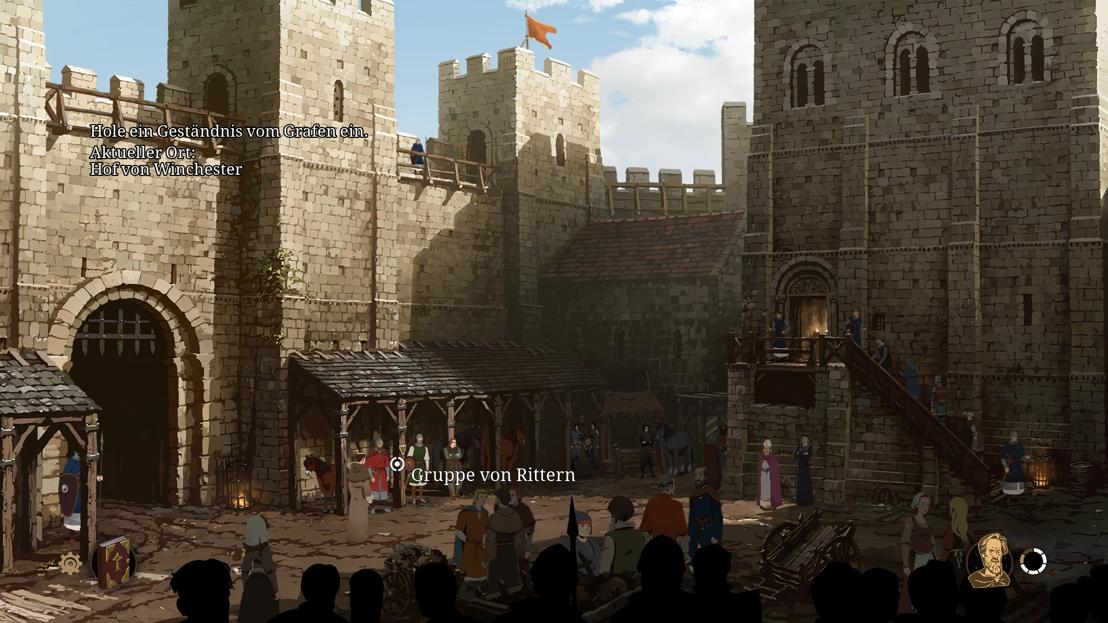 Philip im Burghof von Winchester