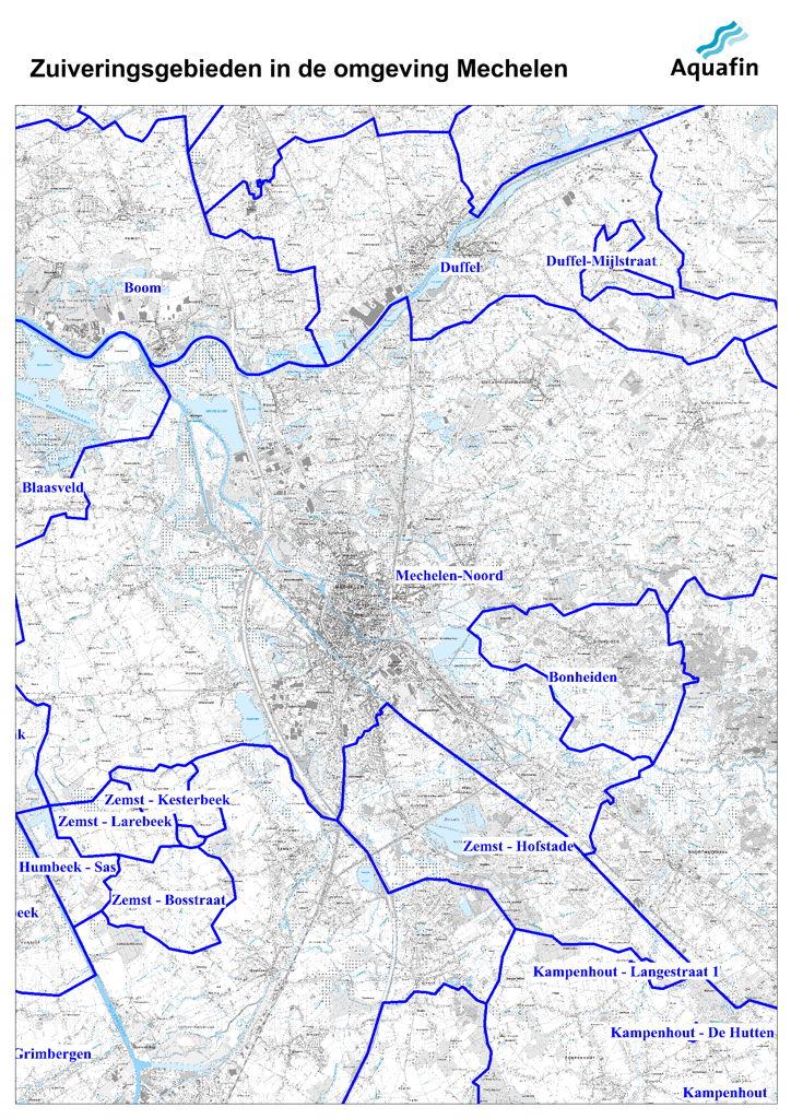 Waar wordt mijn afvalwater gezuiverd: zuiveringsgebieden in de omgeving van Mechelen