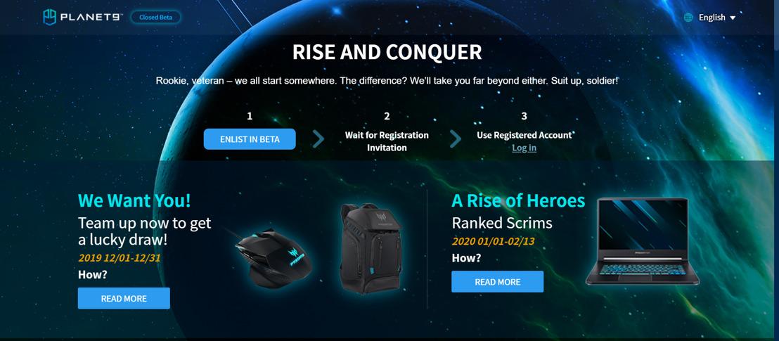 Acer Expands Closed Beta for Planet9, a Next-Gen Esports Platform