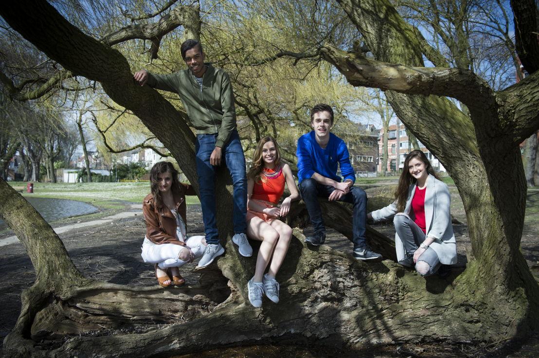 Leyla, Vincent, Kyra, Wout en Amber - (c) VRT / Lies Willaert