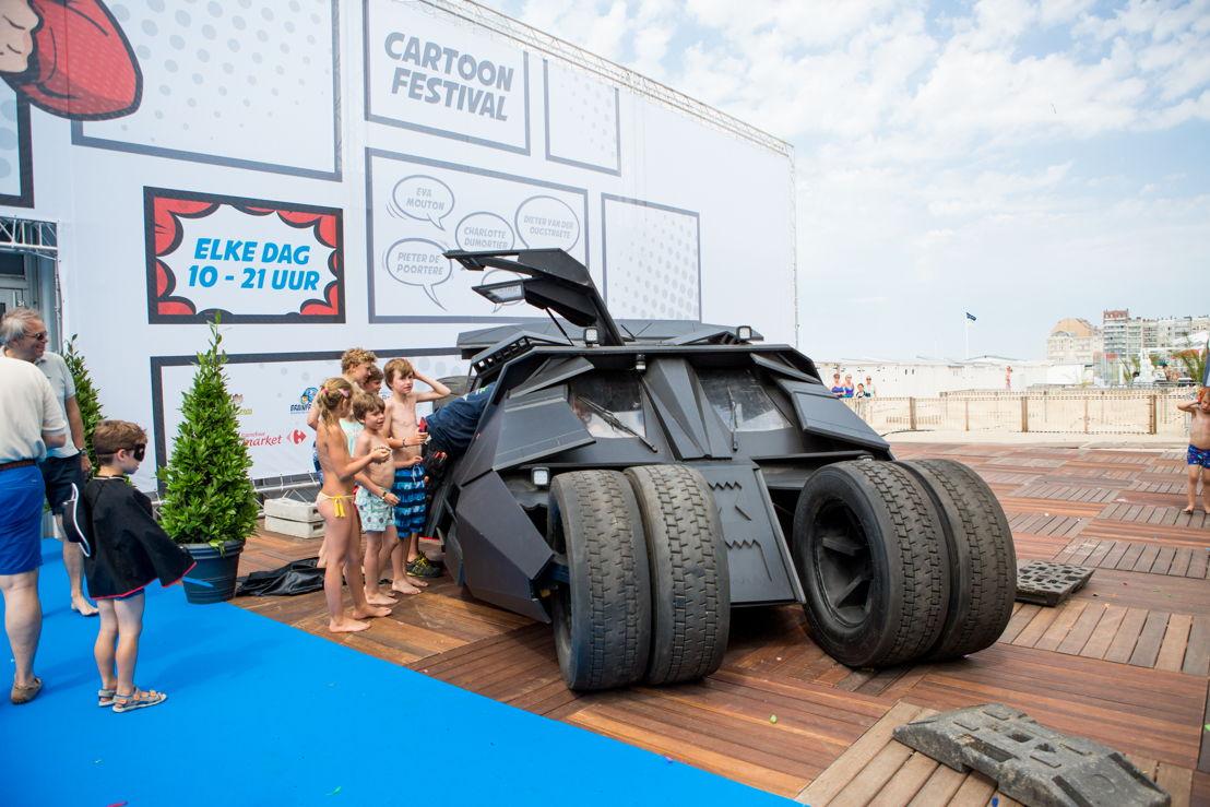 Batmobiel voor het Cartoonfestival