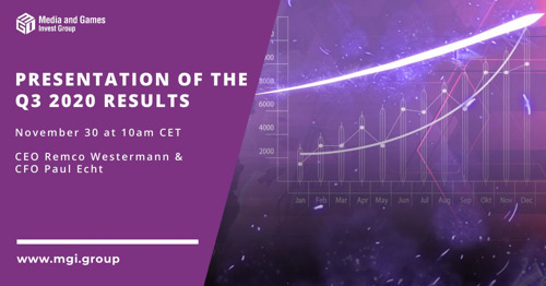 Media and Games Invest plc invites investors to the presentation of its Q3 2020 results on November 30 at 10 am CET