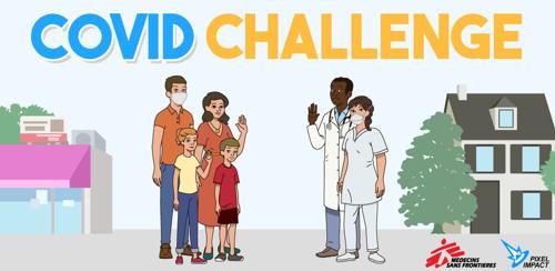 """MSF/Pixel Impact : """"COVID challenge"""", un outil de sensibilisation sous forme de jeu."""