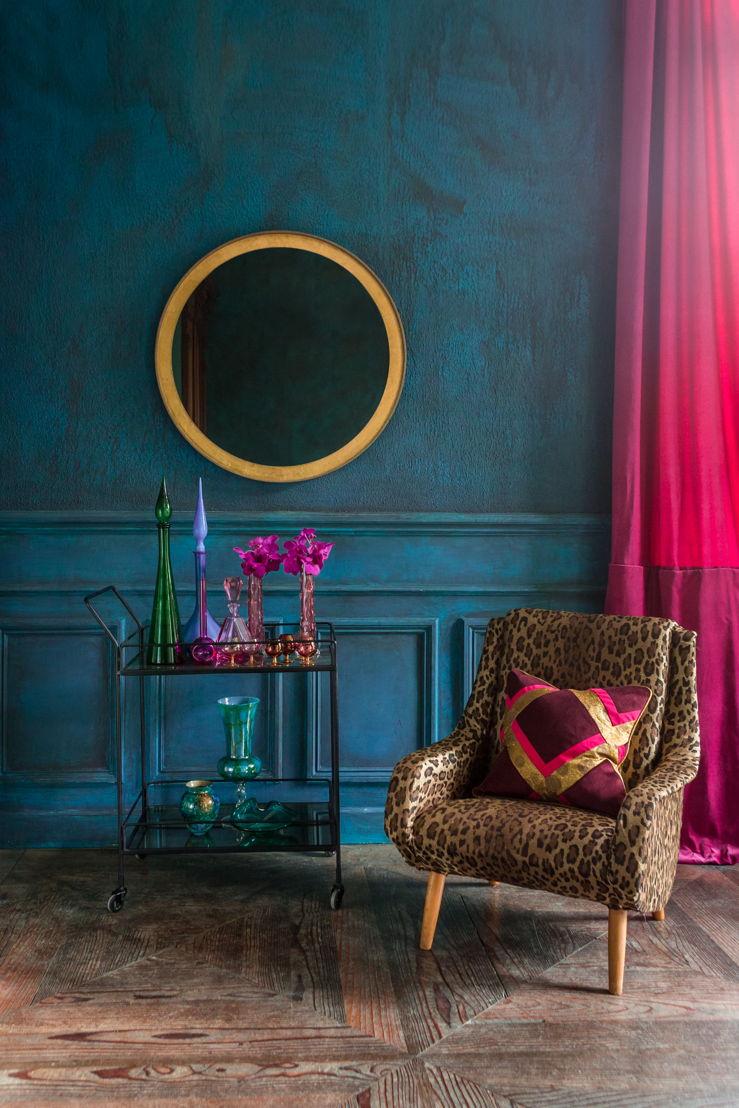Notre Monde Gold Leaf Round Mirror