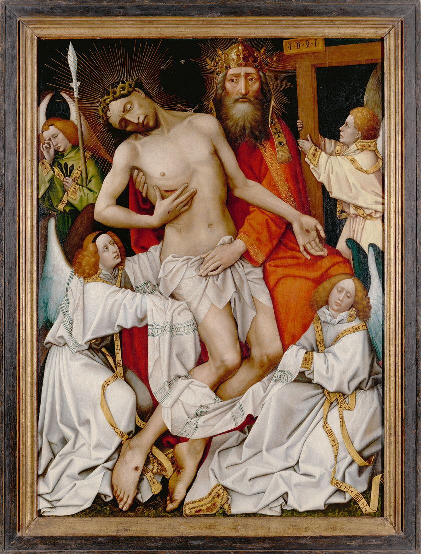 De Heilige Drievuldigheid van atelier Rogier van der Weyden<br/>(c) M-Museum Leuven, Lukasweb