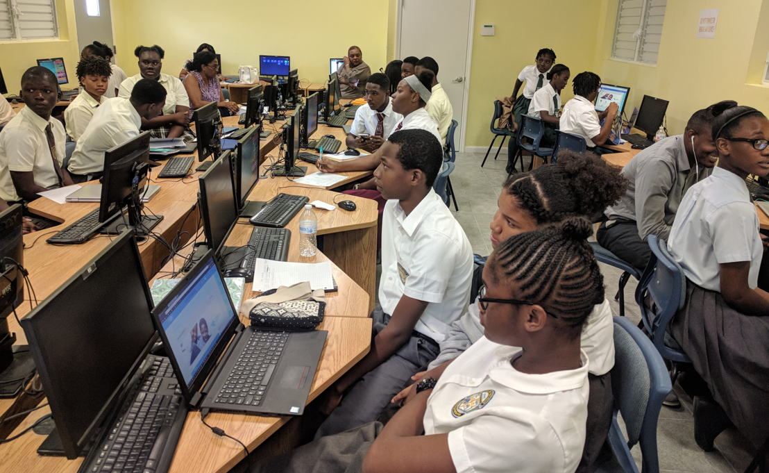 Select secondary school students participate in Turks and Caicos Islands' Training.