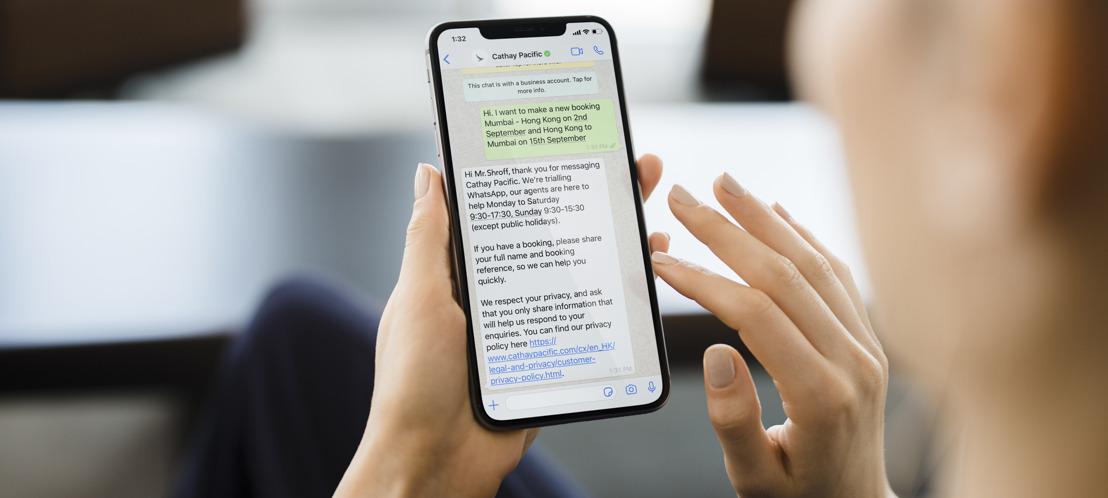 Cathay Pacific lanceert Whatsapp-klantenservice voor Nederlandse reizigers