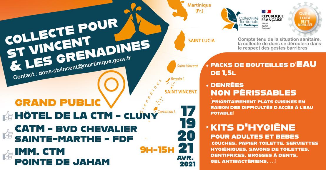 Solidarité envers Saint-Vincent et les Grenadines : la collecte de dons se poursuit les 19, 20 et 21 avril