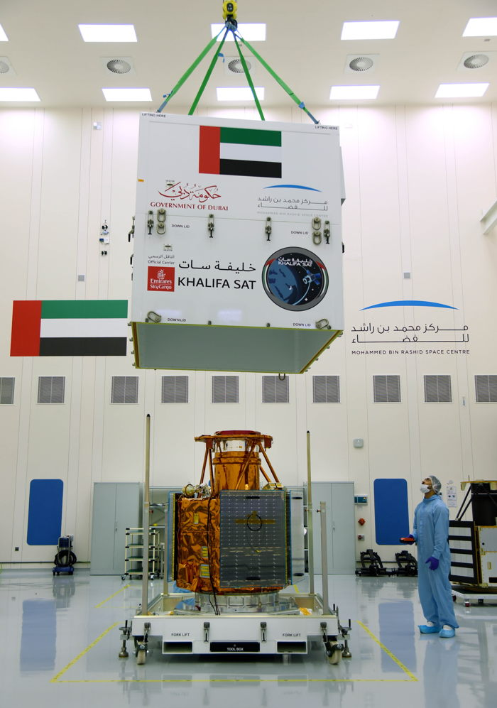 Preview: Emirates SkyCargo transports first space satellite manufactured in the UAE