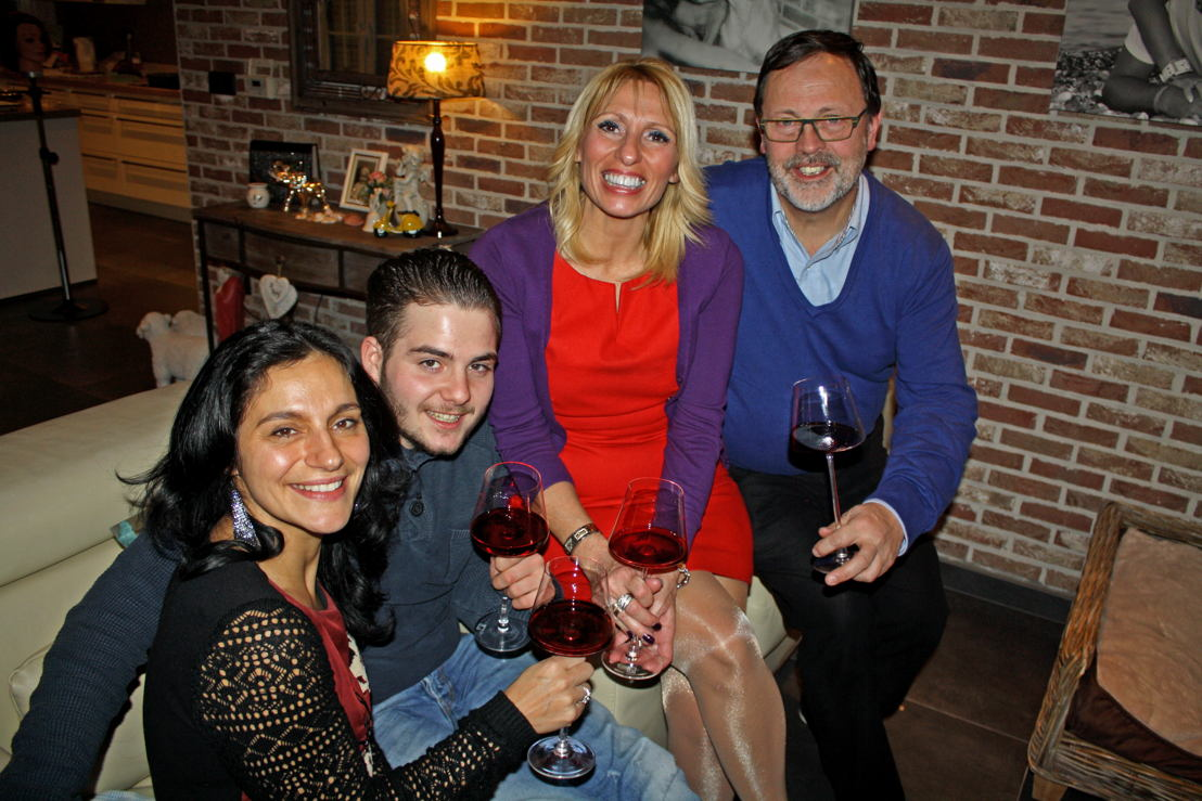Maria, Dylan, Marc en Annick