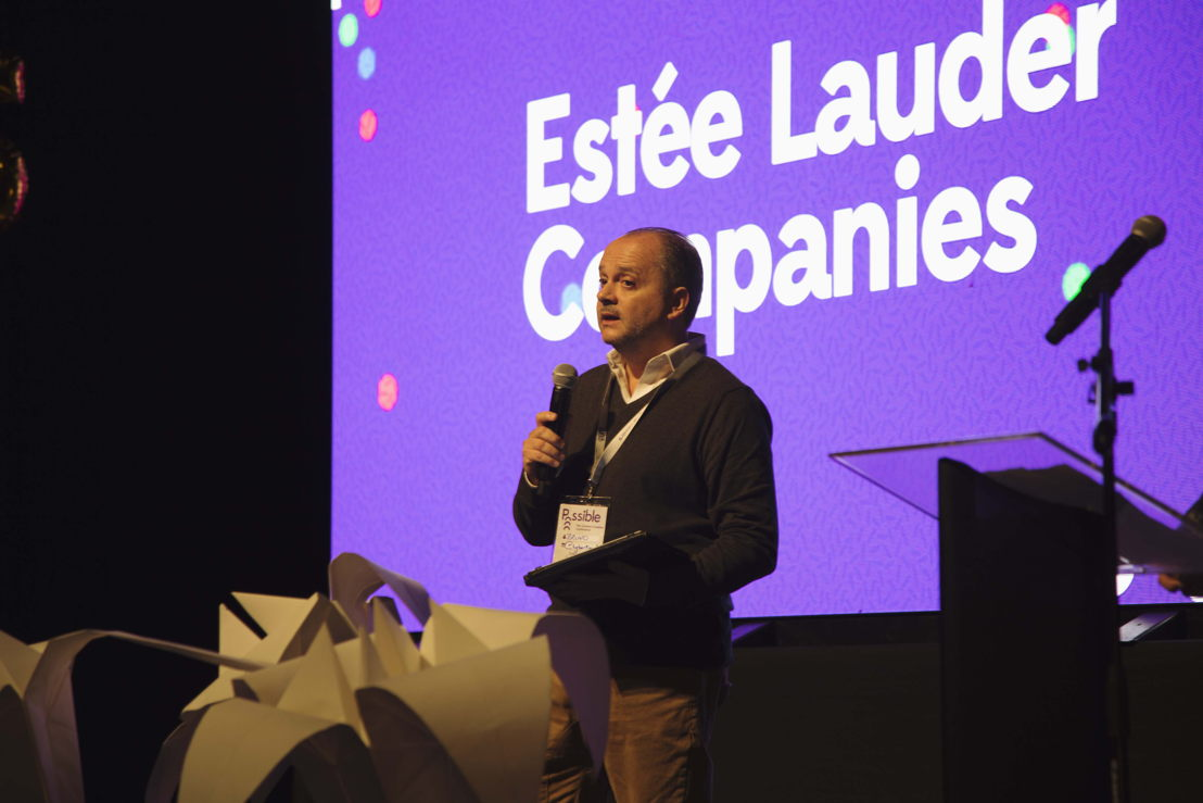 Estée Lauder Companies head of digital marketing, Bruno Bertrand takes to the stage at #POSSIBLEConference