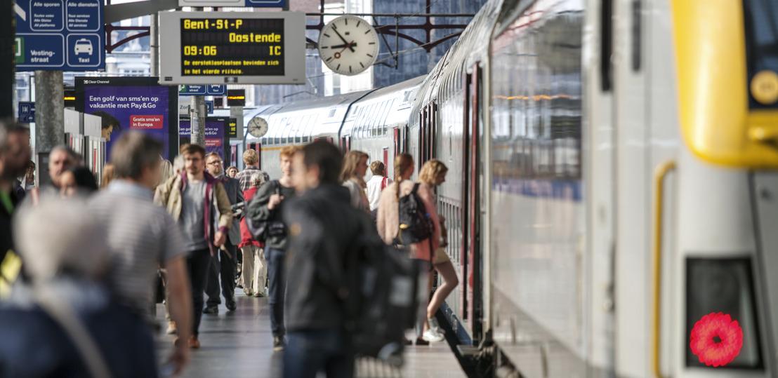 Recordaantal van 243,9 miljoen binnenlandse reizigers nam in 2018 de trein