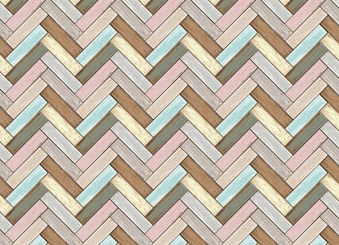Parquet | Pastel Parquet Effect Vinyl Flooring