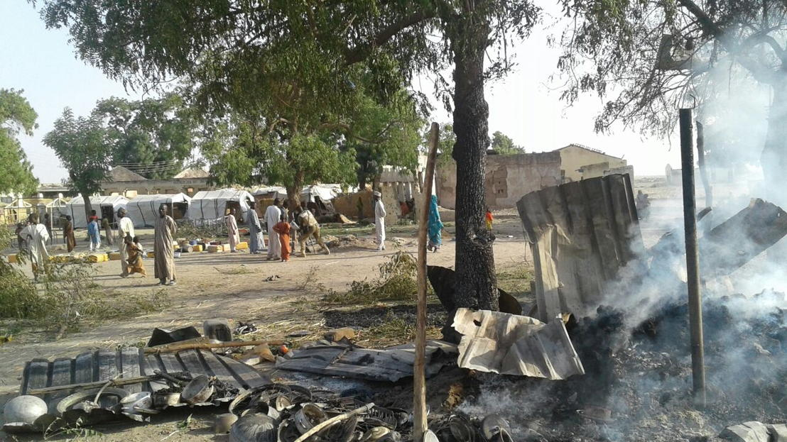 Victims of bombing on a displaced camp in Rann, Nigeria. Photographer:  MSF
