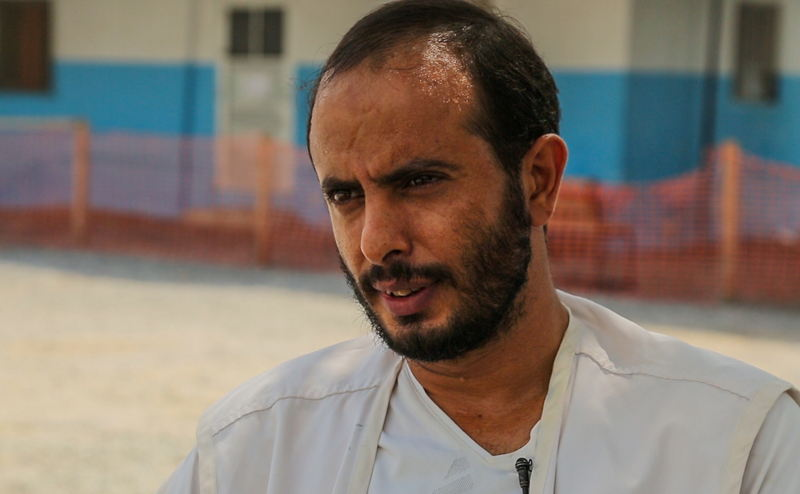 """Emergency Department Supervisor, Ahmad Qassam.<br/>Ahmad has been working with MSF since five years. Last year he was in the Abs hospital when an airstrike hit the building. He survived the attack but some of his colleagues didn´t. <br/>Today Ahmad is a supervisor of Emergencies department and treats war-wounded daily.<br/>""""The situation is horrible. People before were living in their homes with dignity, having enough money to get through with their days. And even if they needed money, they'd borrow from friends. Now many people have lost their houses and livelihoods, some even lost part of their families."""" Photographer: MSF"""