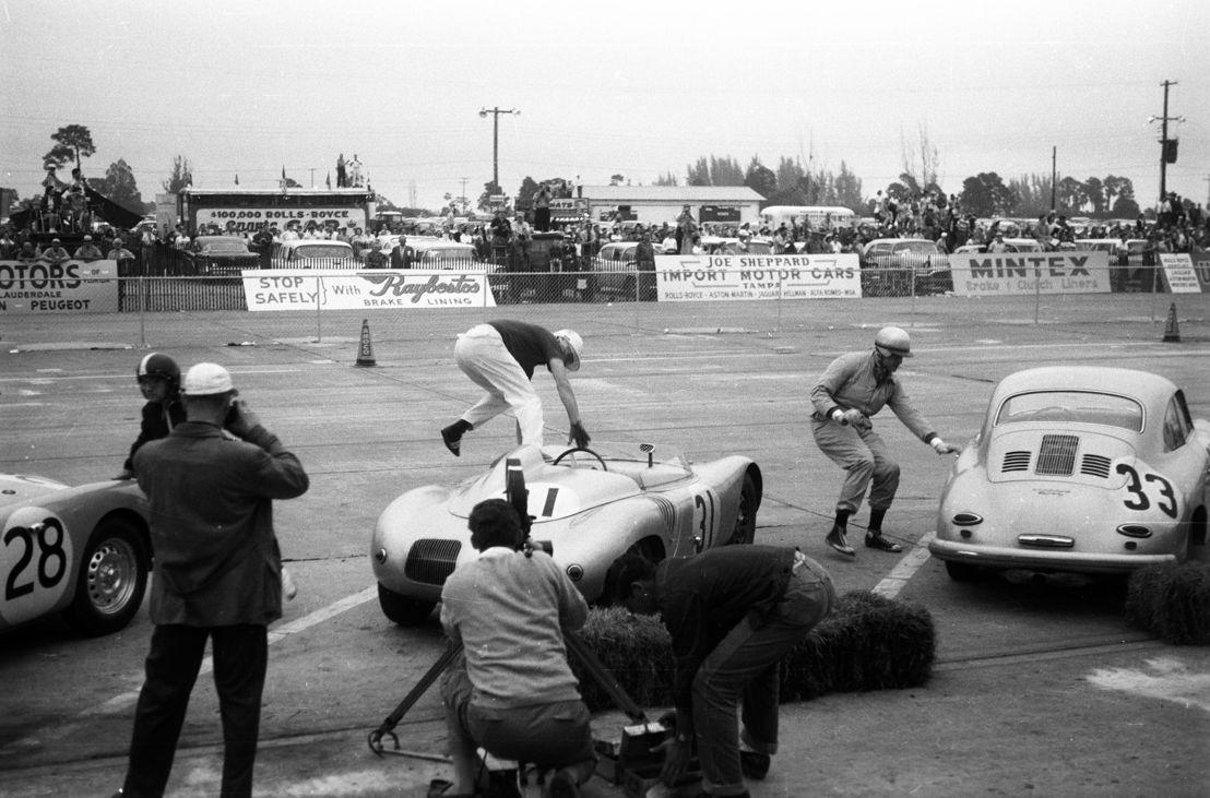1959. Porsche 718 RSK en las 12 Horas de Sebring