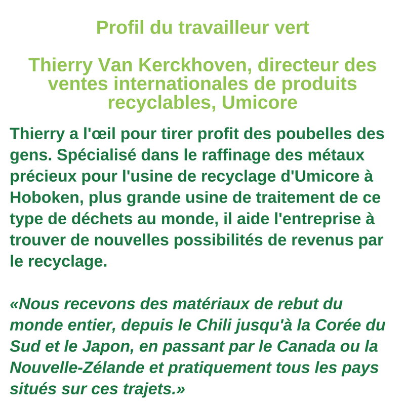 Profil du travailleur vert  - Thierry van Kerckhoven