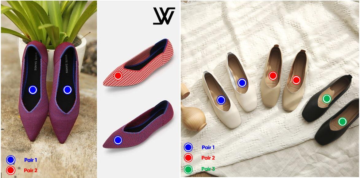 옴니어스 태거가 인식한 신발 켤레(Pair)